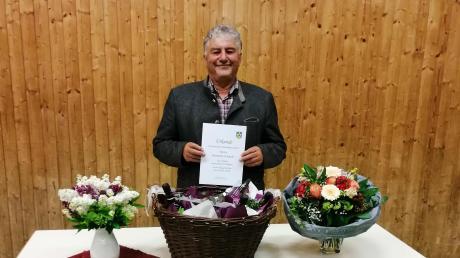 In Amerdingen ist der bisherige Bürgermeister Hermann Schmidt verabschiedet worden.