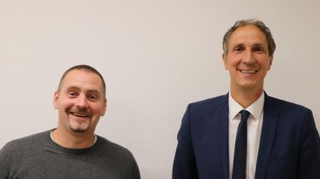 Neues Duo: Alexander Joas (links) ist neuer Zweiter Bürgermeister der Gemeinde Alerheim und damit  Stellvertreter von Christoph Schmid.