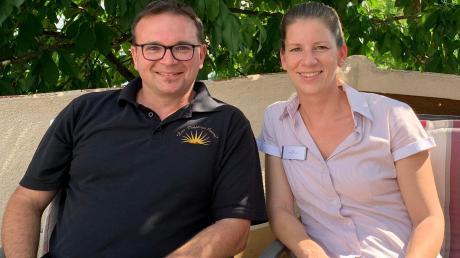 """Anke und Karl Huber führen die """"Goldene Sonne"""" in Maihingen in der vierten Generation."""