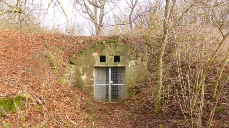 """Der Eingang zum ausgedehnten Bierkeller im Auhausener """"Hausberg"""" wirkt unscheinbar."""