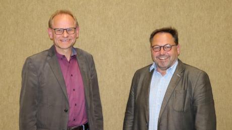 Maihingens Bürgermeister Franz Stimpfle (links) und Wallersteins Bürgermeister Joseph Mayer sind weiterhin die Gemeinschaftsvorsitzenden beziehungsweise stellvertretenden Gemeinschaftsvorsitzenden der VG Wallerstein.