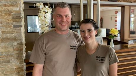 """Corinna und Markus Seitz, die Wirtsleute im """"Gasthaus zum Ochsen"""" in Marktoffingen. Vor allem die klassischen Familienfeiern mussten sie in den vergangenen Monaten absagen."""