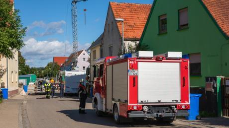 Drei Feuerwehren waren beim Gasleck an der Megesheimer Brückenbaustelle im Einsatz.