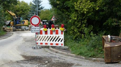 Die Schmähinger Straße sollte eigentlich Ausweichroute zur Hauptstraße sein, ist jetzt aber selbst Baustelle.