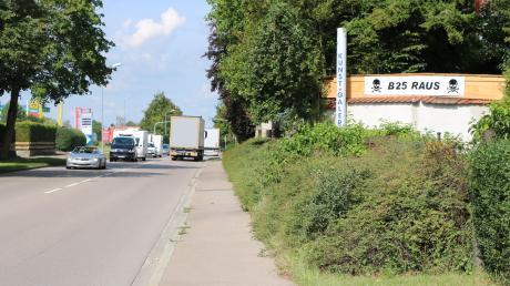 Ein neues Tempolimit gibt es ab dem 1. April auf der B 25 in Möttingen.