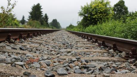 Die Trasse der Hesselbergbahn in Richtung Gunzenhausen.