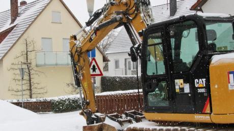 Im Hahngarten in Wallerstein sollen die Kanäle im Juni 2021 schon erneuert sein.