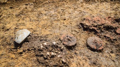 In Wallerstein entdeckten Archäologen zwei tönerne Miniaturräder – ein Fund, der so in Bayern noch nicht gemacht wurde. Doch der Zweck ist ungeklärt.
