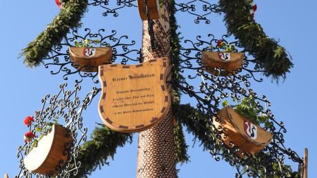 Der Baum der Nähermemminger Maibaumfreunde 2019.
