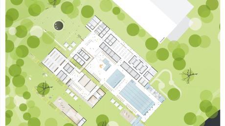 Der Entwurf für das neue Nördlinger Hallenbad stammt vom Büro Löhle Neubauer Architekten aus Augsburg.