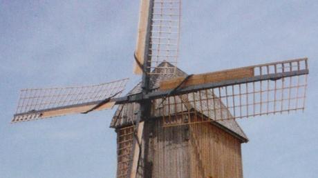 Ähnlich der Windmühle in Borken-Weseke könnte die bei Marktoffingen ausgesehen haben.  Quelle: Mühlenkarte der Westfälisch-Lippischen Mühlenvereinigung 2017