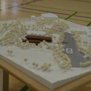 Der Entwurf für das neue Hallenbad im Rieser Sportpark. Dieses wird nach der Entscheidung des Stadtrats mit fünf Bahnen gebaut.