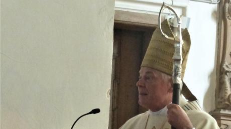 Weihbischof Dr. Dr. Anton Losinger predigte in Mönchsdeggingen.