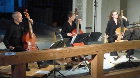 Das Konzert des Trios da Gamba bot den Besuchern der Klosterkirche der ehemaligen Abtei Auhausen ein Erlebnis mit historischer Gambenmusik.