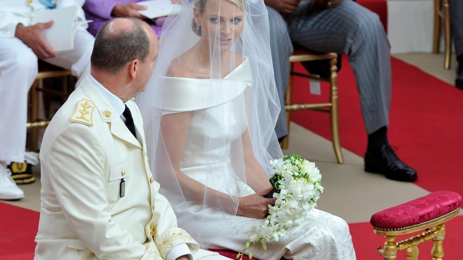 Furstliche Hochzeit In Monaco Kirchliche Trauung Von Albert Und Charlene Augsburger Allgemeine