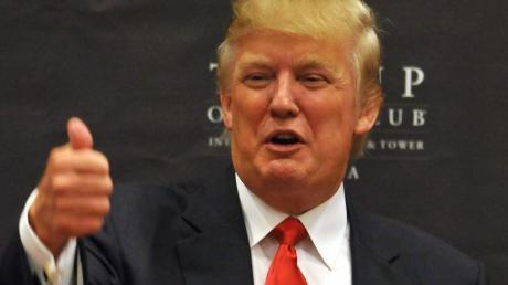 Donald Trump hat einen Platz in der German-American Hall of Fame. Foto: Alejandro Bolivar/Archiv dpa