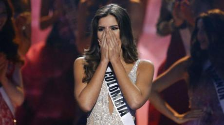 Sie kann es kaum fassen: Paulina Vega aus Kolumbien ist die neue Miss Universe.