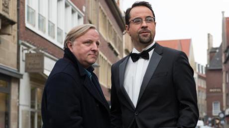 Erfolgreich:Axel Prahl (l.) und Jan Josef Liefers in Münster.