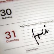 Der 31. Oktober ist dieses Jahr in ganz Deutschland ein Feiertag. Foto: Sebastian Gollnow