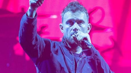 Blur-Frontamann Damon Albarn bei einem Gorillaz-Konzert in Berlin.