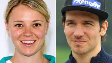 Die Biathletin Miriam Gössner und Alpin-Star Felix Neureuther haben sichg das Jawort gegeben. Fotos: Jens-Ulrich Koch/dpa-Zentralbild