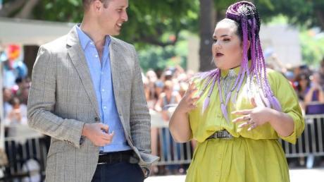 Prinz William traf die Sängerin Netta Barzilai, die den Eurovision Song Contest 2018 gewonnen hat.
