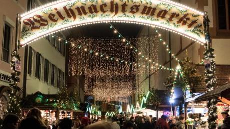 In Freiburg beginnt der Weihnachtsmarkt früh.
