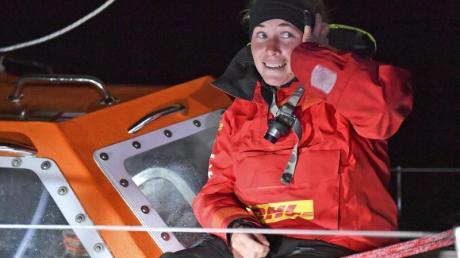 Susie Goodall Ende Oktober bei ihrer Ankunft in Hobart.