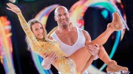 Detlef Soost, Tanz- und Fitnesscoach, und Kat Rybkowski, Eiskunstläuferin, treten bei der neuen SAT.1-Show «Dancing on Ice» auf.