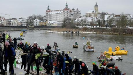 Das Donauschwimmen 2020 in Neuburg. Alle Informationen über den Termin, Beginn und das Programm zum kalten Vergnügen hier.