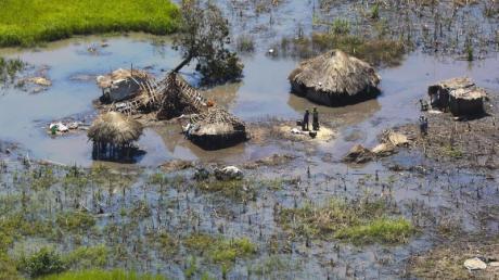Ein überflutetes Dorf inMosambik.Foto: Tsvangirayi Mukwazhi/AP