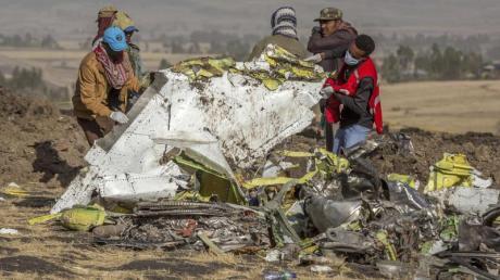 Die Boeing 737 Max der Ethiopian Airlines stürzte südlich von Addis Abeba ab. Dabei wurden 157 Menschen getötet. Foto: Mulugeta Ayene