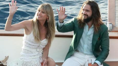 Topmodel Heidi Klum und Musiker Tom Kaulitz bei ihrer Hochzeit. Foto: Sanjin Strukic/PIXSELL