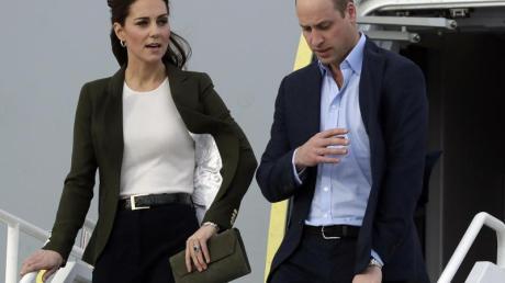 Prinz William und Herzogin Kate sind ohne die Kinder unterwegs.