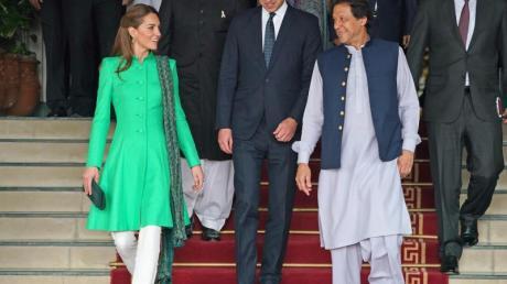 Imran Khan, Premierminister von Pakistan, hat Prinz William und Herzogin Kate empfangen.