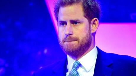 Prinz Harry bei seiner Rede in London. Foto: Toby Melville/PA Wire/dpa