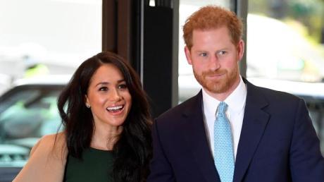 Prinz Harry und Herzogin Meghan bei den «WellChild Awards» im Royal Lancaster Hotel in London. Foto: Toby Melville/PA Wire/dpa
