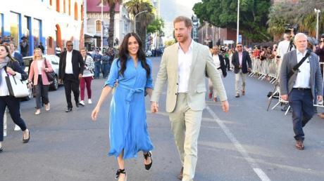 Harry und Meghan in Kapstadt. Foto: Mark Large/PA Wire/dpa