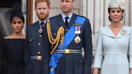 Zwischen Herzogin Meghan (l-r), Prinz Harry, Prinz William und Herzogin Kate läuft momentan nicht alles rund. Foto: Victoria Jones/PA Wire/dpa