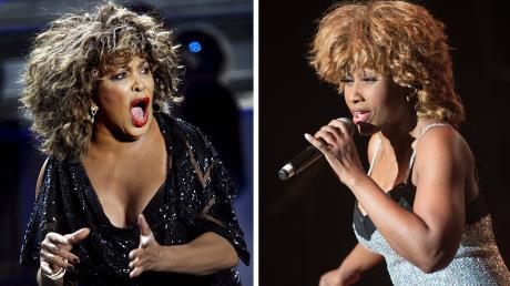 """Tina Turner (links) hat sich erfolgreich gegen gegen ein Plakat einer Tribute-Show mit Dorothea """"Coco"""" Fletcher gewehrt."""