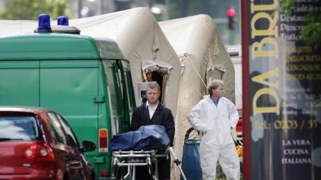 2007 wurden in Duisburg sechs Menschen vor einer Pizzeria erschossen. Foto: Oliver Berg/dpa