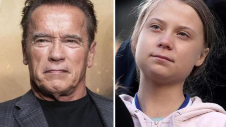 Arnold Schwarzenegger und Greta Thunberg haben eine Radtour gemacht. Foto: Reyes Marin/Dyck/Canadian Press/AP/ZUMA Wire/dpa
