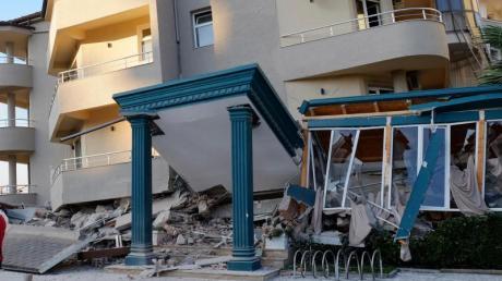 Bei dem Erdbeben in Albanien sind Häuser eingestürzt.