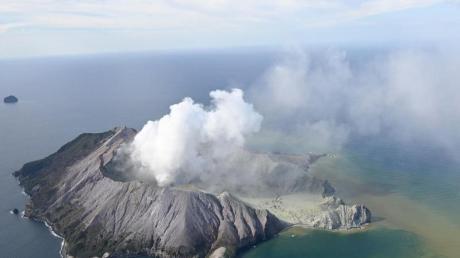 Selbst aus 50 Kilometer Entfernung war die Aschewolke noch zu sehen.