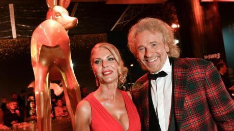 Thomas Gottschalk und Karina Mroß bei der Bambi-Verleihung in Baden-Baden.