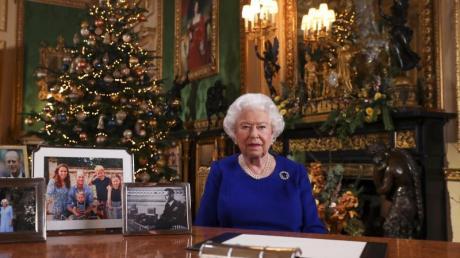 Königin Elizabeth II. bei der Aufzeichnung ihrer Weihnachtsansprache.