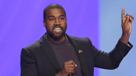US-Rapper Kanye West bei einem Gottesdienst in der Lakewood Church in Houston. Der Weltstar hat nun auf Twitter angekündigt, US-Präsident werden zu wollen.