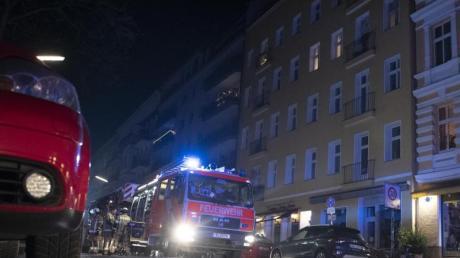 Feuerwehreinsatz in Berlin-Schöneberg.