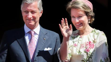 Das belgische Königspaar König Philippe und Königin Mathilde 2019 in Wittenberg.