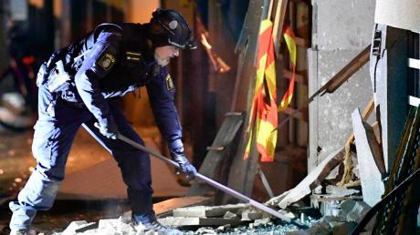 Die Bombe explodierte in einem reichen Stockholmer Stadtteil.